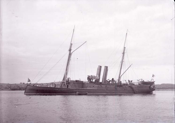 Bild på HMS Skäggald. Kanonbåt i svenska flottan.