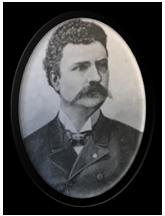 Svartvitt porträtt av Oskar Eklund.